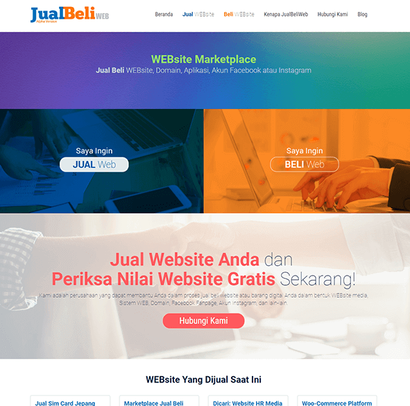 JualBeliWEB.id (Website market place)